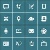 Kommunikationssymboler, vektor eps10 vektor illustrationer
