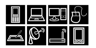 kommunikationssymbolsteknologi Fotografering för Bildbyråer