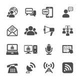 Kommunikationssymbolsuppsättning, vektor eps10 stock illustrationer