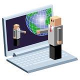 Kommunikationstechnologie lizenzfreie abbildung