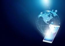 Kommunikationstechnologie-Hintergrund Lizenzfreie Stockfotos