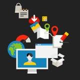 Kommunikationstechnologie-Vektorkonzept Lizenzfreies Stockfoto