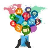 Kommunikationstechnologieschablone Lizenzfreie Stockfotos
