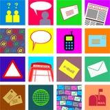 kommunikationstegelplattor vektor illustrationer