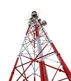 Kommunikationstorn med antenner Royaltyfri Fotografi