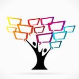 Kommunikationsträd stock illustrationer