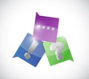 Kommunikationsutrop och fråga Fotografering för Bildbyråer