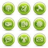 Kommunikationsweb-Ikonen Stockbilder