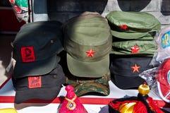 Kommunistisch-ähnliche Hüte der Andenkens, Peking stockbild