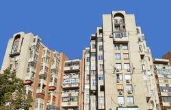Kommunistisch-Ärawohnblöcke in Bukarest, Rumänien lizenzfreies stockfoto