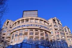 Kommunistisch-Ärawohnblock, Sektor 2, Bukarest, Rumänien stockfotografie