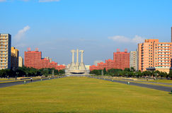 Kommunistische Partei-Monument, Pjöngjang, Norden-Korea Stockbilder