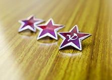 kommunistiska röda stjärnor Royaltyfri Bild