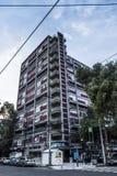 Kommunistiskt projekt för hyreshus från 40-tal Arkivfoton