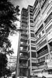 Kommunistiskt projekt för hyreshus från 40-tal Fotografering för Bildbyråer