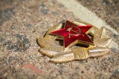 Kommunistiskt sovjetiskt emblem fotografering för bildbyråer