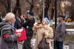 Kommunistpartei an einem Maifeiertag Stockfoto