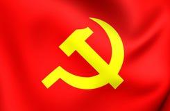 Kommunistparti av den Vietnam flaggan stock illustrationer