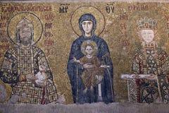 Komnenos Mosaic, Aya Sofya Mosque (Hagia Sophia) Royalty Free Stock Image