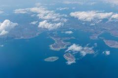 Komodo flight. Airplane komodo indonesia tropical island Royalty Free Stock Images