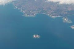 Komodo flight. Airplane komodo indonesia tropical island Stock Photos