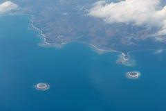Komodo flight. Airplane komodo indonesia tropical island Royalty Free Stock Photography