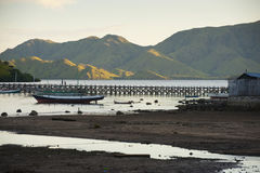 Komodo Island Harbor. Stock Photo