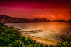 Landing pier on the Komodo island Stock Photography