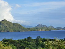 Komodo island. Is particularly notable as the habitat of the Komodo dragon, the largest lizard on Earth, which is named for the island stock photo