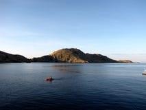 Komodo Islands Kayaker Royalty Free Stock Photography