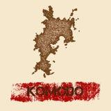 Komodo martwił mapę ilustracji