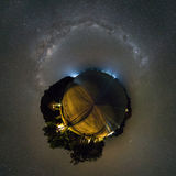 Komodo Night Planet. The milky way over the Komodo national park Stock Images