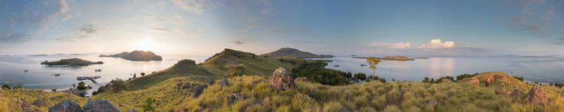 Komodo Panorama. A 360 degree panorama in Komodo Stock Photos