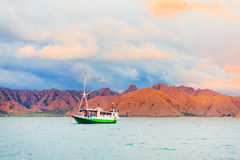 Komodo sunset Stock Photo