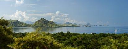 Komodo wyspy panorama Obraz Royalty Free