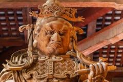 Komokuten - guardiães dos quatro bobinadores em cone no templo de Todaiji em Nara foto de stock