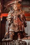 Komokuten - The Guardians of the four coners at Todaiji Temple in Nara. Fierce-looking guardian at Todaiji Temple, who protects the four corners of Buddha's royalty free stock photo