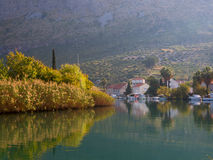 Komolac town in Croatia Royalty Free Stock Images