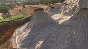 Komolithi - bisarra landskap i Kreta, Grekland lager videofilmer