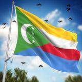 komory flagę Zdjęcia Royalty Free