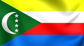 komory flagę Obraz Royalty Free