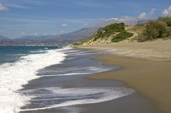 Komos Beach near Kalamaki on Crete Stock Images