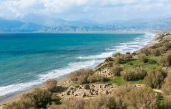 Komos site baie Crete Royalty Free Stock Image