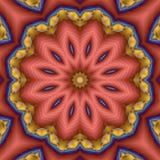 Kompaßstern-Blumen-Mandala Lizenzfreies Stockbild