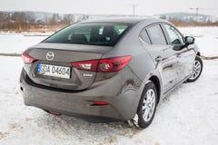 Kompakt bil Mazda 3 Arkivfoton