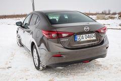 Kompakt bil Mazda 3 Royaltyfri Bild