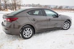 Kompakt bil Mazda 3 Arkivbild