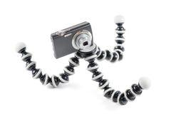 kompakt digital böjlig tripod för kamera Royaltyfria Bilder