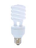 kompakt fluorescerande lightbulb Arkivfoto