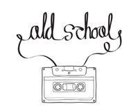 Kompakt kassett eller Musicassette, kassettband, ljudkassett Arkivbild